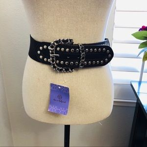 NWT Hot In Hollywood Brown Studded Belt Size: L/XL